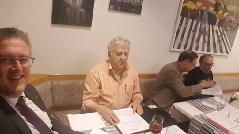 v.l.n.r.  Michael Donth, MdB. Claus Dollinger, Vorsitzender, Alois Haug, stv. Vorsitzender u. Schriftführer, Dietmar Bez, Beisitzer
