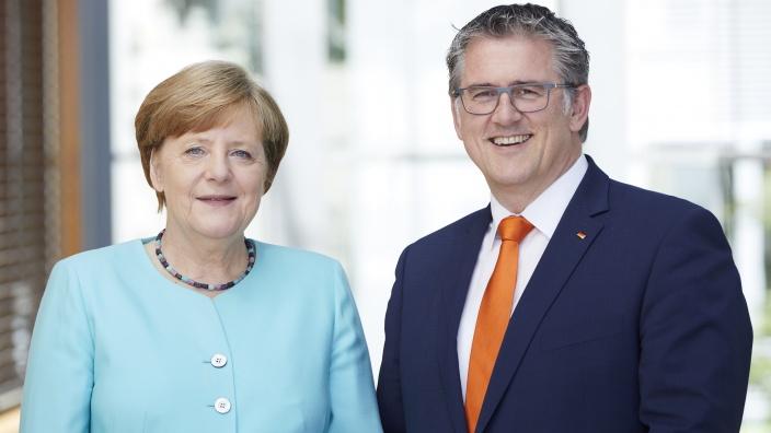 Angela Merkel und Michael Donth MdB