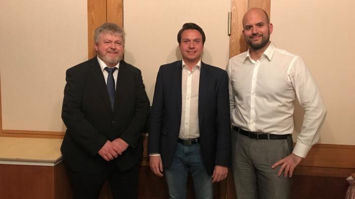 v.l. Dr. Gerd Gaiser, Manuel Hailfinger und Dr. Christian Majer