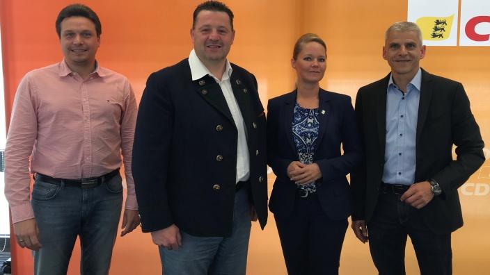 v.l. Manuel Hailfinger, Ralf Stoll, Kerstin Weiss und Patrick Rapp