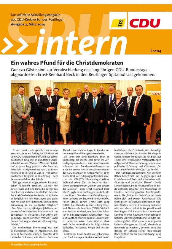 CDU Intern - Ausgabe 2 / 2014