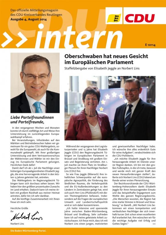 CDU Intern - Ausgabe 4 / 2014
