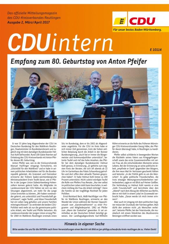 CDU Intern - Ausgabe 2 / 2017