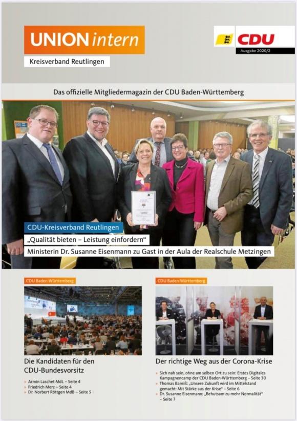 CDU Intern - Ausgabe 2 / 2020